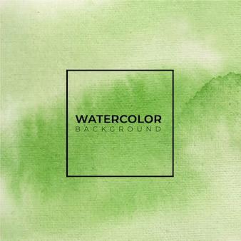 Groene kleur abstracte aquarel hand verf.