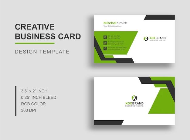 Groene kleur visitekaartje