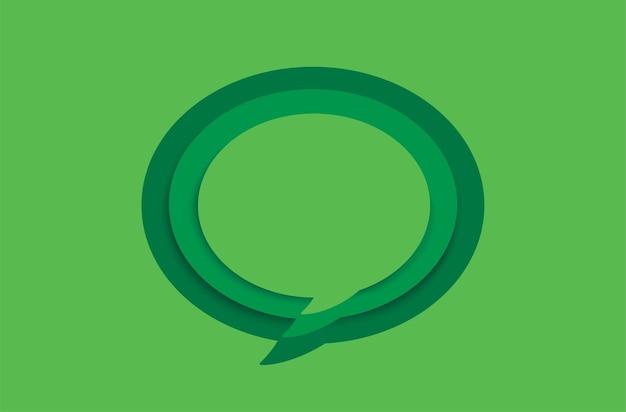 Groene lege tekstballon op groen