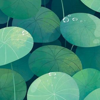 Groene lommerrijke pennyworth achtergrond