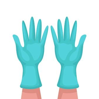 Groene medische handschoenen