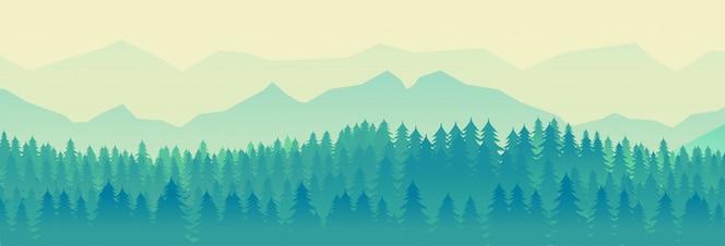 Groene natuur landschap