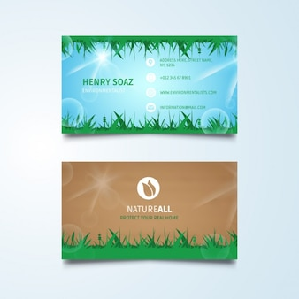 Groene natuur visitekaartje sjabloon