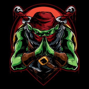 Groene ninjamoordenaar