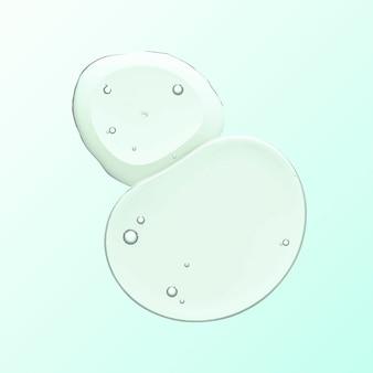 Groene olie vloeibare zeepbel macro vector cosmetisch product
