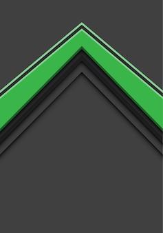 Groene pijlrichting overlappen op grijze achtergrond.