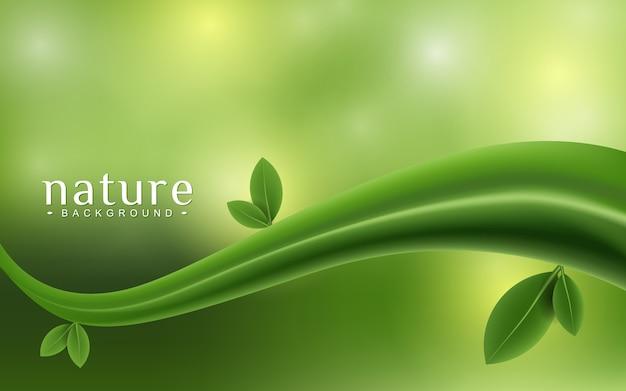 Groene plant op de bokeh achtergrond