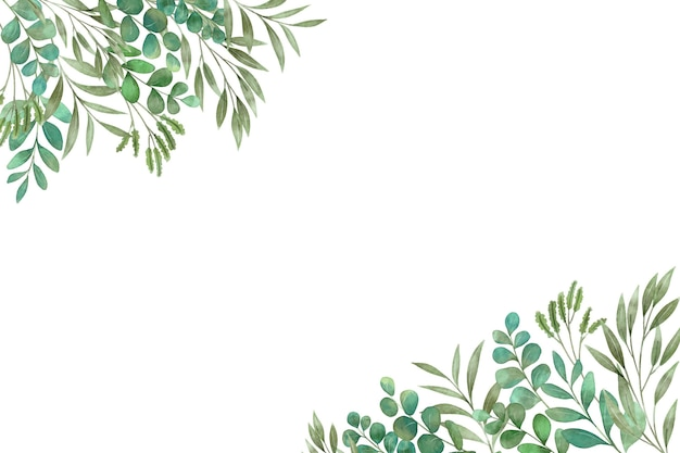 Groene planten en bladeren kopiëren ruimte