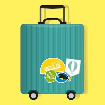 Groene reisbagage