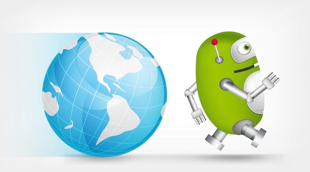 Groene robot