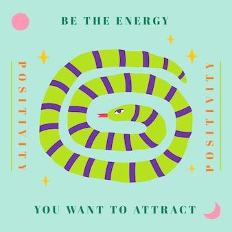 Groene slang sociale sjabloon vector dierlijke illustratie