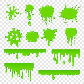 Groene slime set
