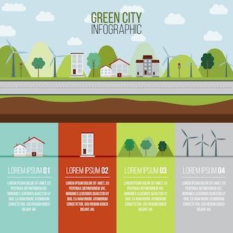 Groene stad infografie