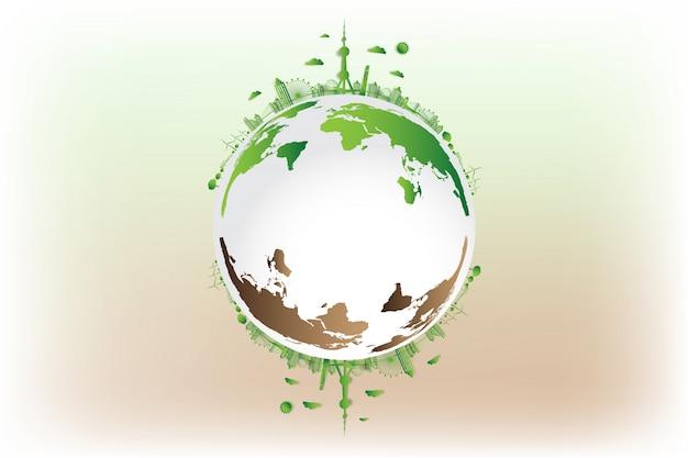Groene stad red de wereld,