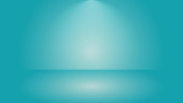 Groene studioachtergrondscène met lege gradiëntkleurverlichtingsachtergrond voor productvertoning;
