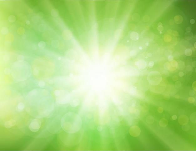 Groene sunburst achtergrond