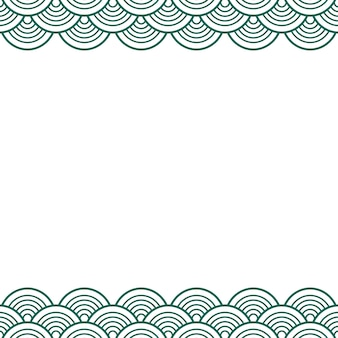 Groene teal traditional wave japanese chinese border