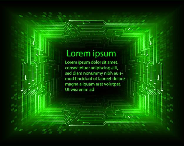 Groene tekst op digitale abstracte achtergrond