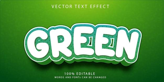 Groene teksteffecten stijlsjabloon