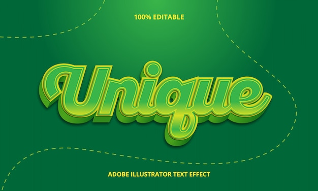 Groene tekststijl bewerkbaar