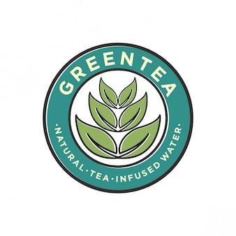 Groene thee logo ontwerp