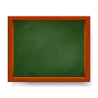 Groene vector schoolbord geïsoleerd