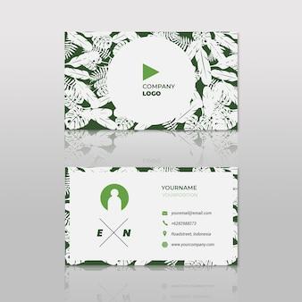 Groene veer visitekaartje hipster