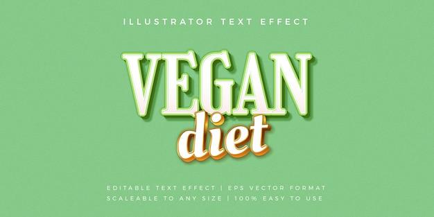 Groene veganistische gezonde tekststijl lettertype-effect
