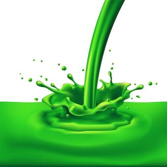 Groene verf spatten