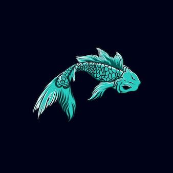 Groene vis-illustraties