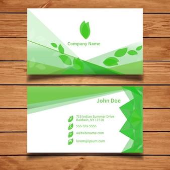 Groene visitekaartje sjabloon