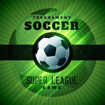 Groene voetbaltoernooi championshio achtergrond