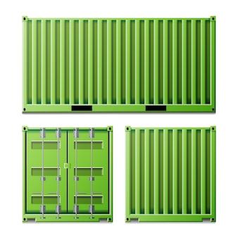 Groene vrachtcontainer