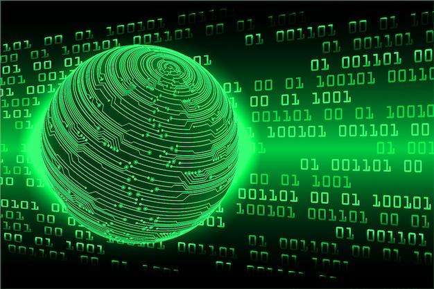 Groene wereld cyber circuit toekomstige technologie concept achtergrond