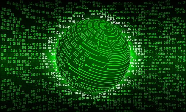 Groene wereld cyber circuit toekomstige technologie