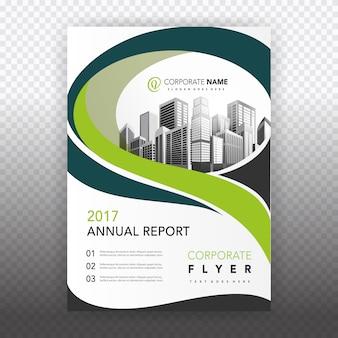 Groene zakelijke brochure