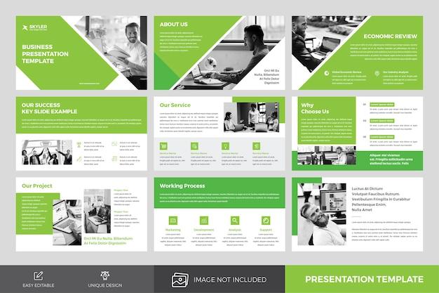 Groene zakelijke presentatiesjabloon