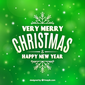 Groene zeer vrolijke kerstmis als achtergrond