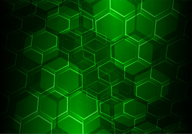 Groene zeshoek raster vector achtergrond