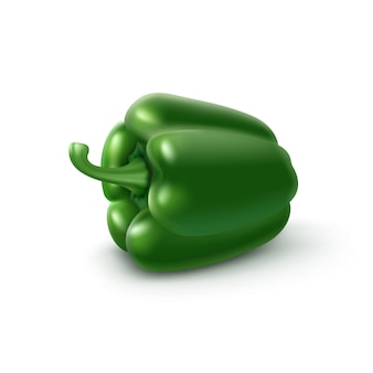 Groene zoete bulgaarse paprika op achtergrond