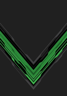 Groene zwarte pijlkring op grijze lege ruimteachtergrond.