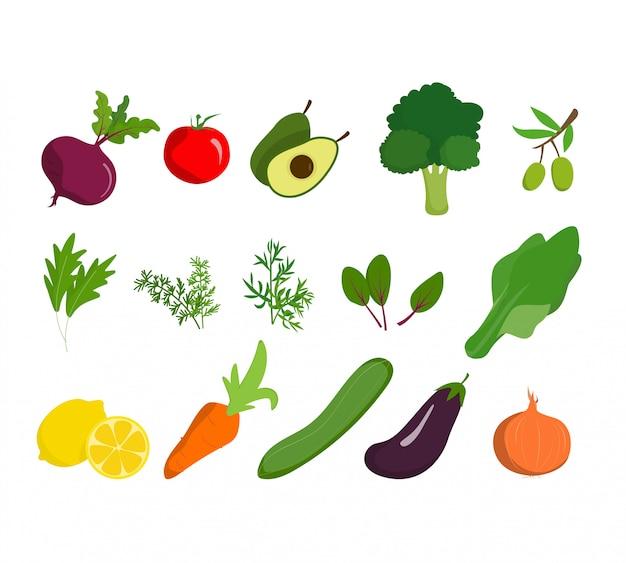 Groenten biologisch gezond landbouwhuisvoedsel en veganistisch natuurlijk bioproduct.