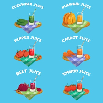 Groenten elementen instellen