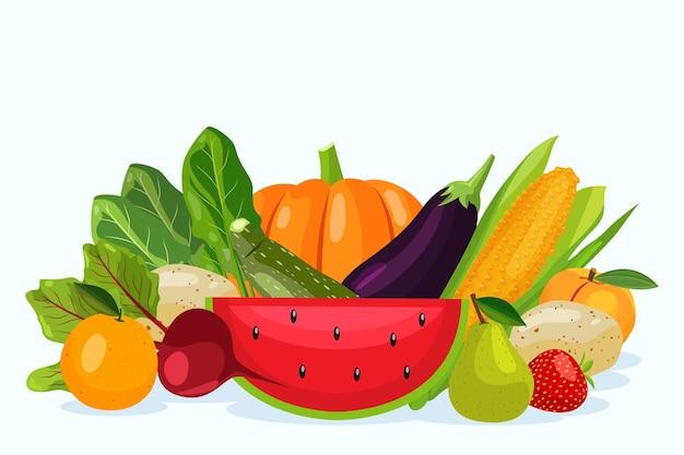 Groenten en fruit achtergrond