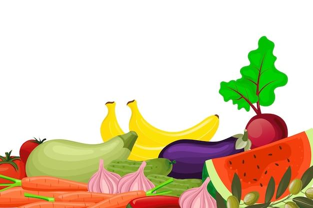 Groenten en fruit achtergrondthema