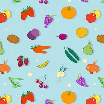 Groenten en fruit patroon