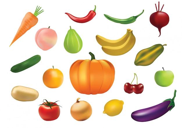 Groenten en fruit pictogramserie