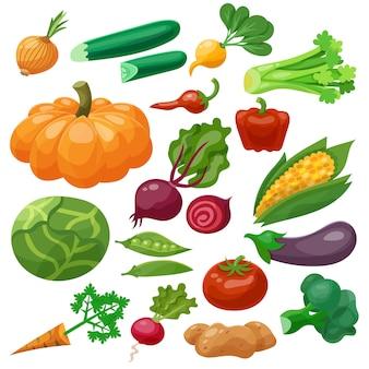 Groenten icons set