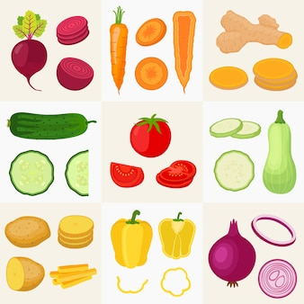 Groenten instellen