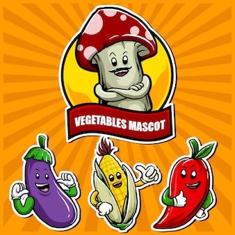 Groenten mascotte
